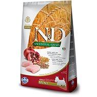 N&D low grain DOG Adult Mini Chicken & Pomegranate 2,5 kg - Granule pro psy
