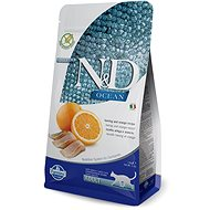 N&D OCEAN CAT grain free Adult Herring & Orange 1,5 kg - Granule pro kočky