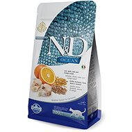 N&D OCEAN CAT low grain Adult Codfish & Orange 1,5 kg - Granule pro kočky