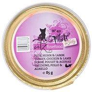 Catz finefood Fillets - krůtí, kuřecí a jehněčí 85 g - Kapsička pro kočky