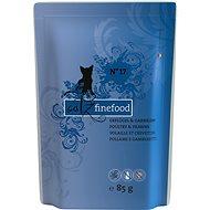 Catz finefood - s drůbežím a garnáty 85 g - Kapsička pro kočky