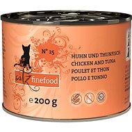 Konzerva pro kočky Catz finefood - s kuřecím masem a tuňákem 200g - Konzerva pro kočky