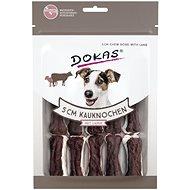 Dokas - Kosti z hovězí kůže s jehněčím m. - 5 cm - Kost pro psy