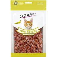 Dokas - Kachna a treska mini steaky pro kočky 40 g - Pamlsky pro kočky