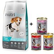 Nutrilove JUNIOR S & M fresh chicken 8 kg +  Nutrilove konzerva 3 × 415 g - Granule pro psy