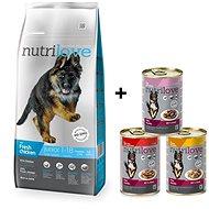 Nutrilove JUNIOR L fresh chicken 12 kg + Nutrilove konzerva 3 × 415 g - Granule pro psy