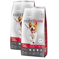 Nutrilove ADULT S fresh chicken 2 × 8 kg - Granule pro psy