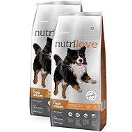 Nutrilove ADULT L fresh chicken 2 × 12 kg - Granule pro psy