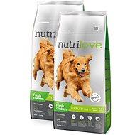 Nutrilove MATURE 7+ fresh chicken 2 × 12 kg - Granule pro psy