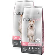 Nutrilove SENSITIVE lamb and rice 2 × 12 kg - Granule pro psy