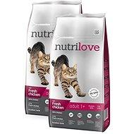 Nutrilove ADULT cat fresh chicken 2 × 8 kg - Granule pro kočky
