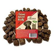 Sušené maso pro psy NATURECA pochoutka masové kostky - Kachna, 100 % maso 150g - Sušené maso pro psy
