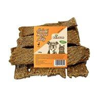 NATURECA pochoutka masové pláty - Husa, 100 % maso 100g - Sušené maso pro psy