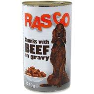 RASCO Konzerva Rasco hovězí kousky ve šťávě 1240g - Konzerva pro psy
