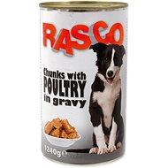 RASCO Konzerva Rasco drůbeží kousky ve šťávě 1240g - Konzerva pro psy