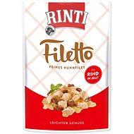 FINNERN kapsička Rinti Filetto kuře+hovězí v želé 100g - Kapsička pro psy