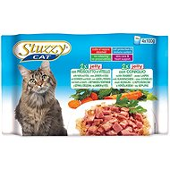 SCHESIR STUZZY multipack ham + veal + rabbit in jelly 4x100g - Cat Food Pouch