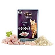 Nuevo kočka kapsa sterilized drůbeží s rýží 85 g