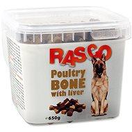 RASCO Pochoutka Rasco kost drůbeží sjátry 2,5cm 650g - Pamlsky pro psy