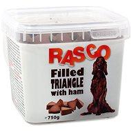 RASCO Pochoutka Rasco plněný trojúhelníček se šunkou 1cm 750g