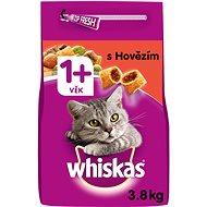 WHISKAS granule s hovězím masem 3,8 kg - Granule pro kočky