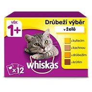 Whiskas Drůbeží výběr v želé 12 × 100 g - Kapsička pro kočky