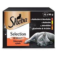 SHEBA Šťavnatý výběr 12 × 85 g - Kapsička pro kočky