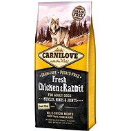 Carnilove fresh chicken & rabbit muscles, bones & joints for adult dogs 12kg - Granule pro psy