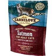 Carnilove salmon for adult cats – sensitive & long hair 400 g - Granule pro kočky