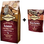 Carnilove reindeer for adult cats 6 kg + Carnilove duck & turkey for large breed cats 400 g zdarma - Sada krmiva