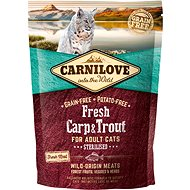 Carnilove fresh carp & trout sterilised for adult cats 400 g - Granule pro kočky