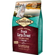 Carnilove fresh carp & trout sterilised for adult cats 2 kg - Granule pro kočky