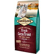 Carnilove fresh carp & trout sterilised for adult cats 6 kg - Granule pro kočky