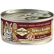 Carnilove white muscle meat turkey & reindeer for adult cats 100 g  - Konzerva pro kočky