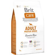Brit Care adult medium breed lamb & rice 3 kg - Granule pro psy