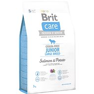 Brit Care grain-free junior large breed salmon & potato 3 kg - Granule pro štěňata
