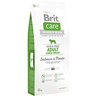 Brit Care grain-free adult large breed salmon & potato 12 kg - Granule pro psy