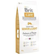 Brit Care grain-free senior & light salmon & potato 12 kg - Granule pro psy