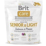 Brit Care grain-free senior & light salmon & potato 1 kg - Granule pro psy