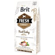 Brit Fresh turkey with pea Light Fit & Slim 2,5 kg - Granule pro psy
