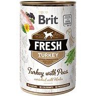 Brit Fresh turkey with peas 400 g  - Konzerva pro psy