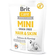Brit Care mini grain free hair & skin 400 g - Granule pro psy