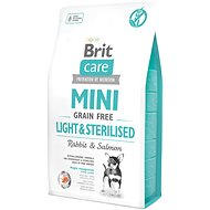 Brit Care mini grain free light & sterilised 2 kg - Granule pro psy