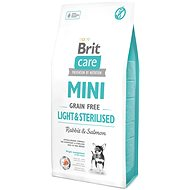 Brit Care mini grain free light & sterilised 7 kg - Granule pro psy