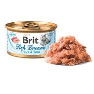 Brit Fish Dreams Trout & Tuna 80 g  - Konzerva pro kočky