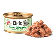 Brit Fish Dreams Tuna & Squid 80 g - Konzerva pro kočky