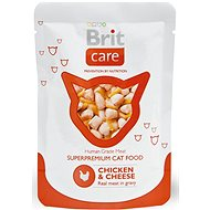 Brit Care Cat Chicken & Cheese Pouch 80 g - Kapsička pro kočky