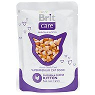 Brit Care Cat Chicken & Cheese KITTEN Pouch 80 g - Kapsička pro kočky