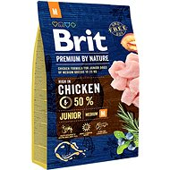 Granule pro psy Brit Premium by Nature Junior M 3 kg - Granule pro psy