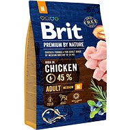 Brit Premium by Nature Adult M 3 kg - Granule pro psy